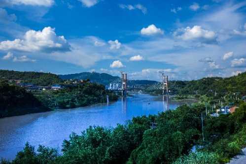 达州金南大桥_达州金南大桥朴英奎家庭 达州晚报记者探访即将竣工的金南大桥 ...